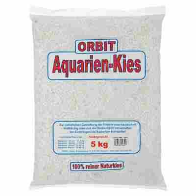 Aquarien-Kies Naturkies 5 kg weiß