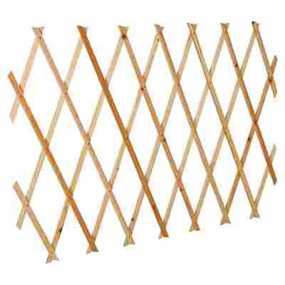Scherenspalier Holz 180 x 60 cm naturfarben