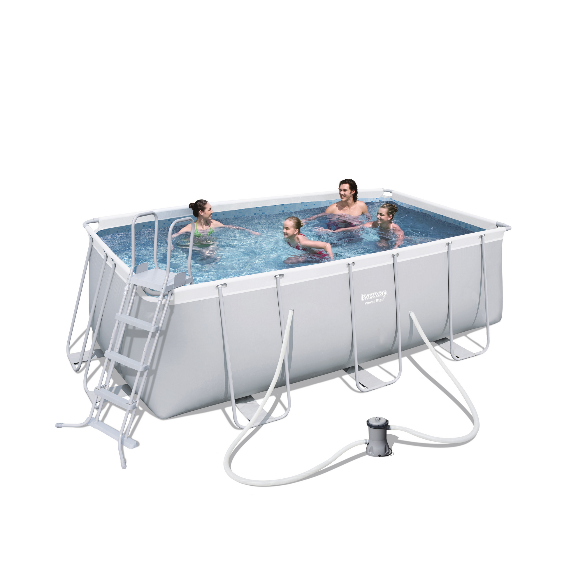 Power Steel Frame Pool  Set,412 X 201 X 122cm .