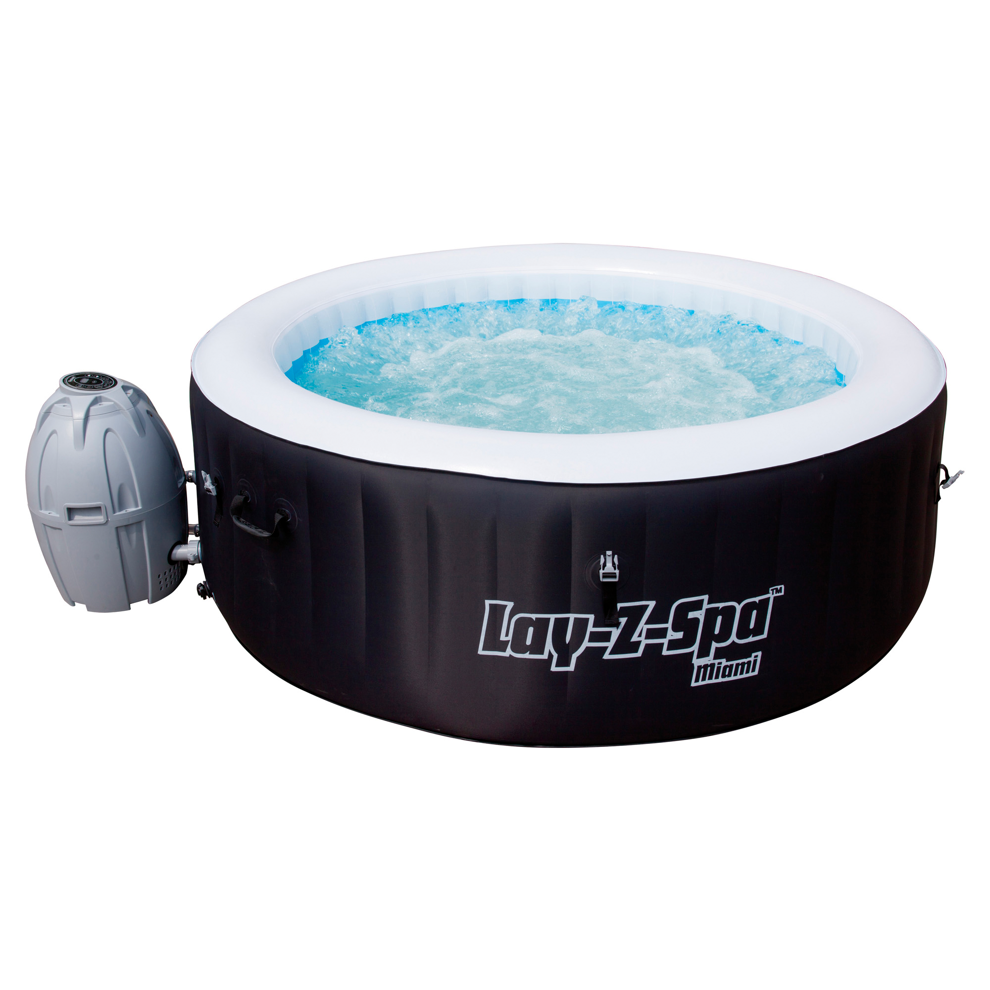 Finest Affordable Elegant Whirlpool Uelayzspauc Miami Aufblasbar X Cm With  Garten Pool Aufblasbar With Whirlpool Garten Aufblasbar With Pool Garten ...