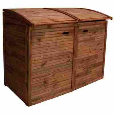 Doppel-Mülltonnenbox braun KDI 156 x 132 x 97 cm