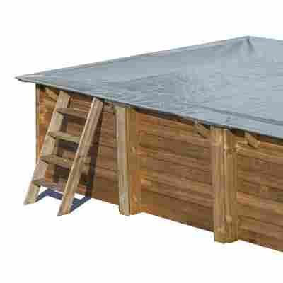 Pool-Abdeckplane 'Winterabdeckung' grau 300 x 300 cm