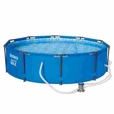 Aufstellpool 'Steel Pro MAX' blau rund Ø 305 x 76 cm, mit Filterpumpe