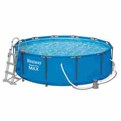 Aufstellpool 'Steel Pro MAX' Komplett- Set, blau rund Ø 366 x 100 cm