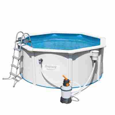 Aufstellpool 'Hydrium' Komplett-Set, weiß rund Ø 300 x 120 cm