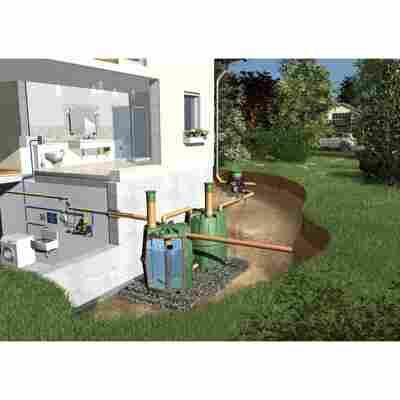 Tanksystem Herkules 'Komplettpaket Haus' grün, 3200 l