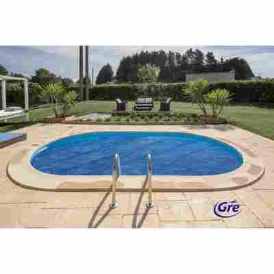 Pool-Sommerabdeckplane blau 315 x 595 cm