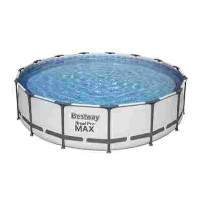 Aufstellpool 'Steel Pro MAX' Komplett-Set, grau rund Ø 457 x 107 cm
