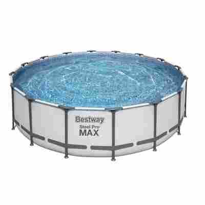 Aufstellpool 'Steel Pro MAX' Komplett-Set, grau rund Ø 488 x 122 cm