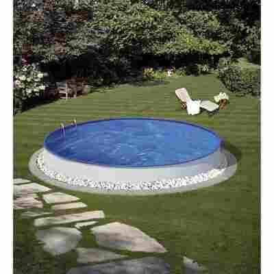 Einbaupool-Set 'Dahlia' weiß rund Ø 403 x 90 cm