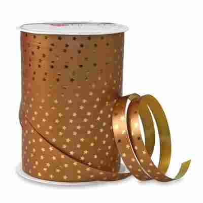 Ringelband glossy-gold 7,5 x 8 cm