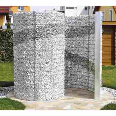 Schneckendusche/Umkleide silbern Gabione 230 x 180 x 210 cm