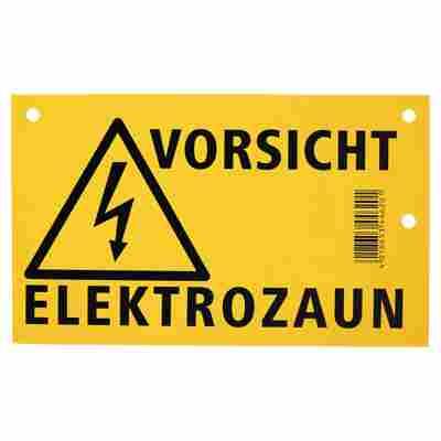 """Warnschild """"Vorsicht Elektrozaun"""" 200 x 120 mm"""