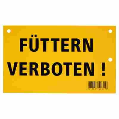 """Warnschild """"Füttern verboten!"""" 200 x 120 mm"""