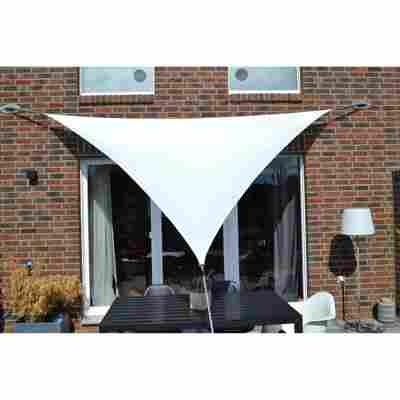 Dreiecksonnensegel weiß 500 x 500 x 500 cm