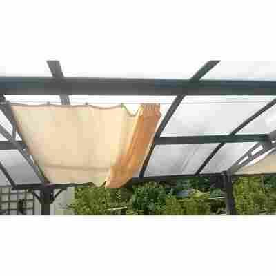 Balkon-Sonnensegel elfenbein 140 x 270 cm