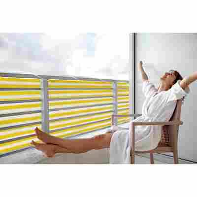 Balkonverkleidung 500 x 90 cm gelb/weiß