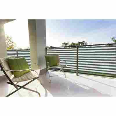 Balkonverkleidung 500 x 90 cm grün/weiß