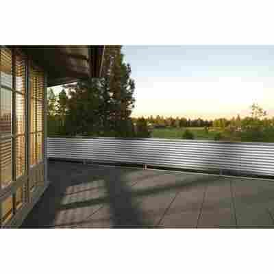 Balkonverkleidung 500 x 90 cm grau/weiß