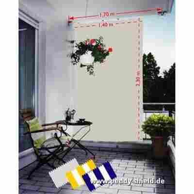 Senkrechtsonnensegel weiß 230 x 140 cm