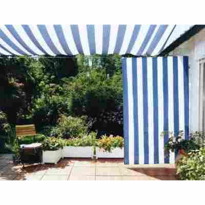 Senkrechtsonnensegel blau/weiß 230 x 140 cm