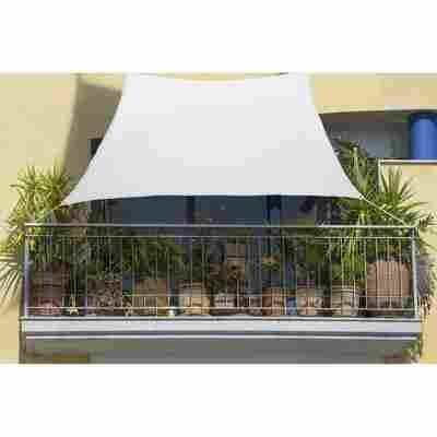 Balkon-Sonnensegel weiß 140 x 270 cm