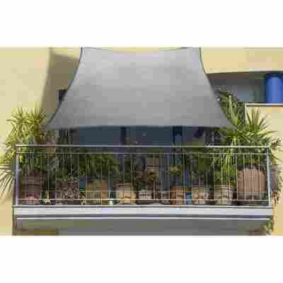 Balkon-Sonnensegel silbergrau 270 x 140 cm