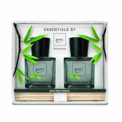 Raumduft 'Essentials black bamboo' 50 ml, 2er Set