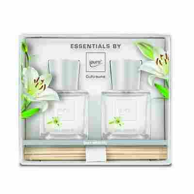 Raumduft 'Essentials white lily' 50 ml, 2er Set