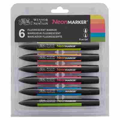 Winsor&Newton NeoenMarker 6er Set, fluoreszierend