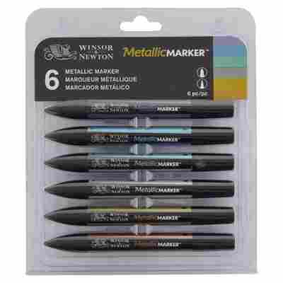 Winsor&Newton MetallicMraker 6er Set, metallisch