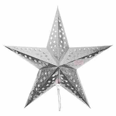 Deko-Leuchtstern silbern Ø 60 cm