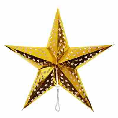 Deko-Leuchtstern golden Ø 60 cm