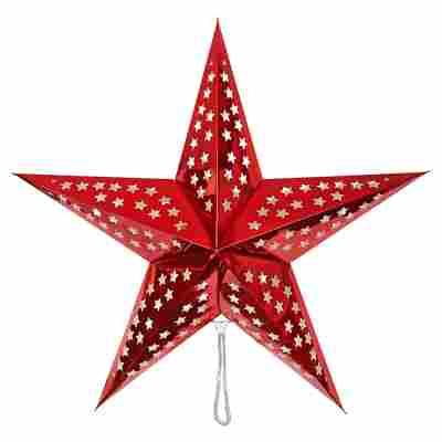 Deko-Leuchtstern rot Ø 60 cm