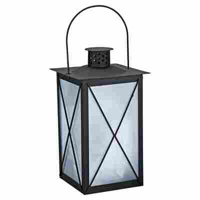 LED-Laterne Metall 30 cm schwarz
