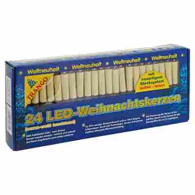 LED-Weihnachtskerzen 24 Stück