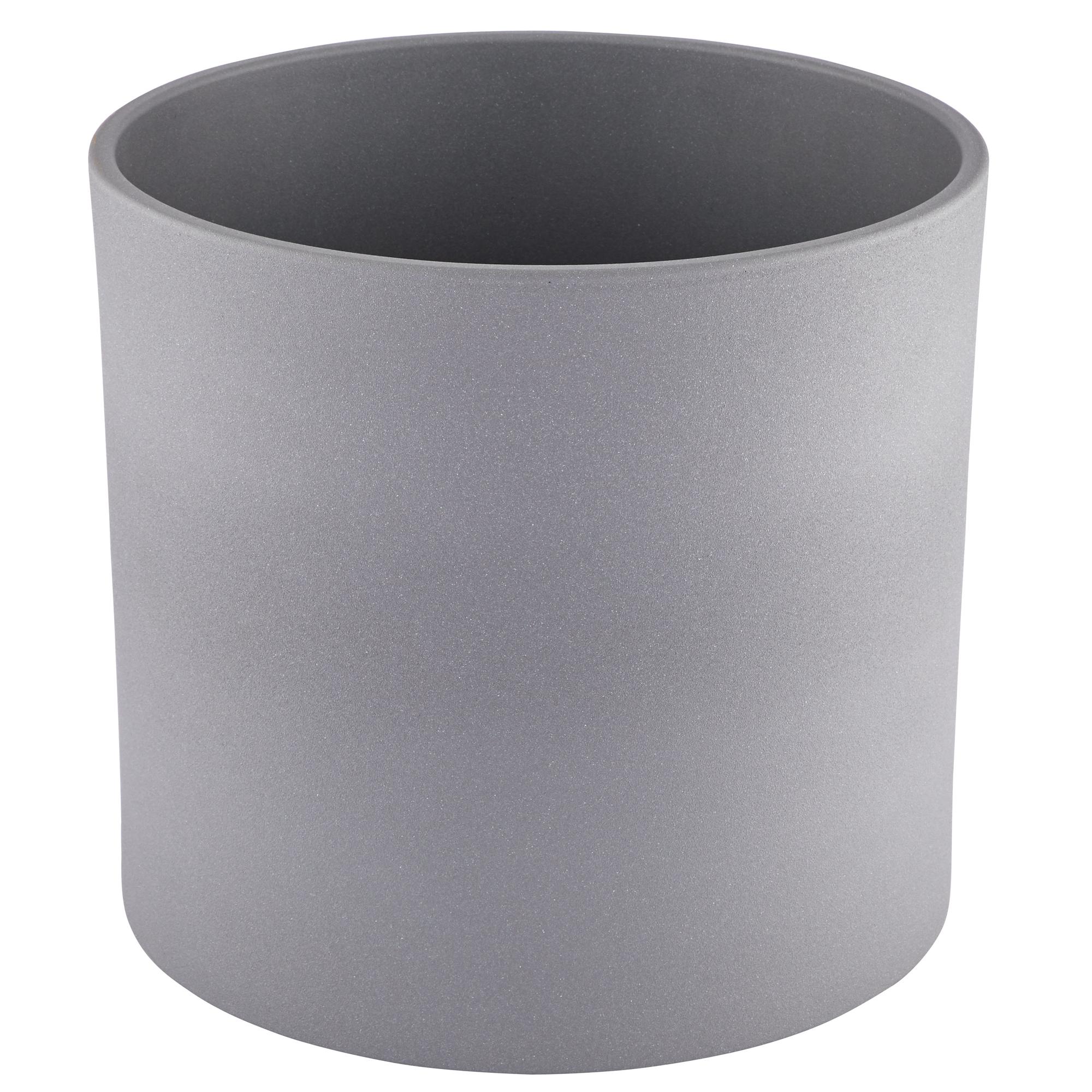 Übertopf 'Cari' grau Ø 11 cm