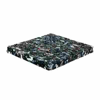 Gummi-Pads, schwarz, 10 x 10 x 1 cm, 10 Stück