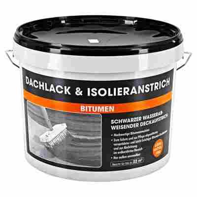 Dachlack & Isolieranstrich 'Bitumen' schwarz 10 l