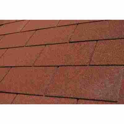Dachschindeln rechteckig Bitumen rot 3 m²