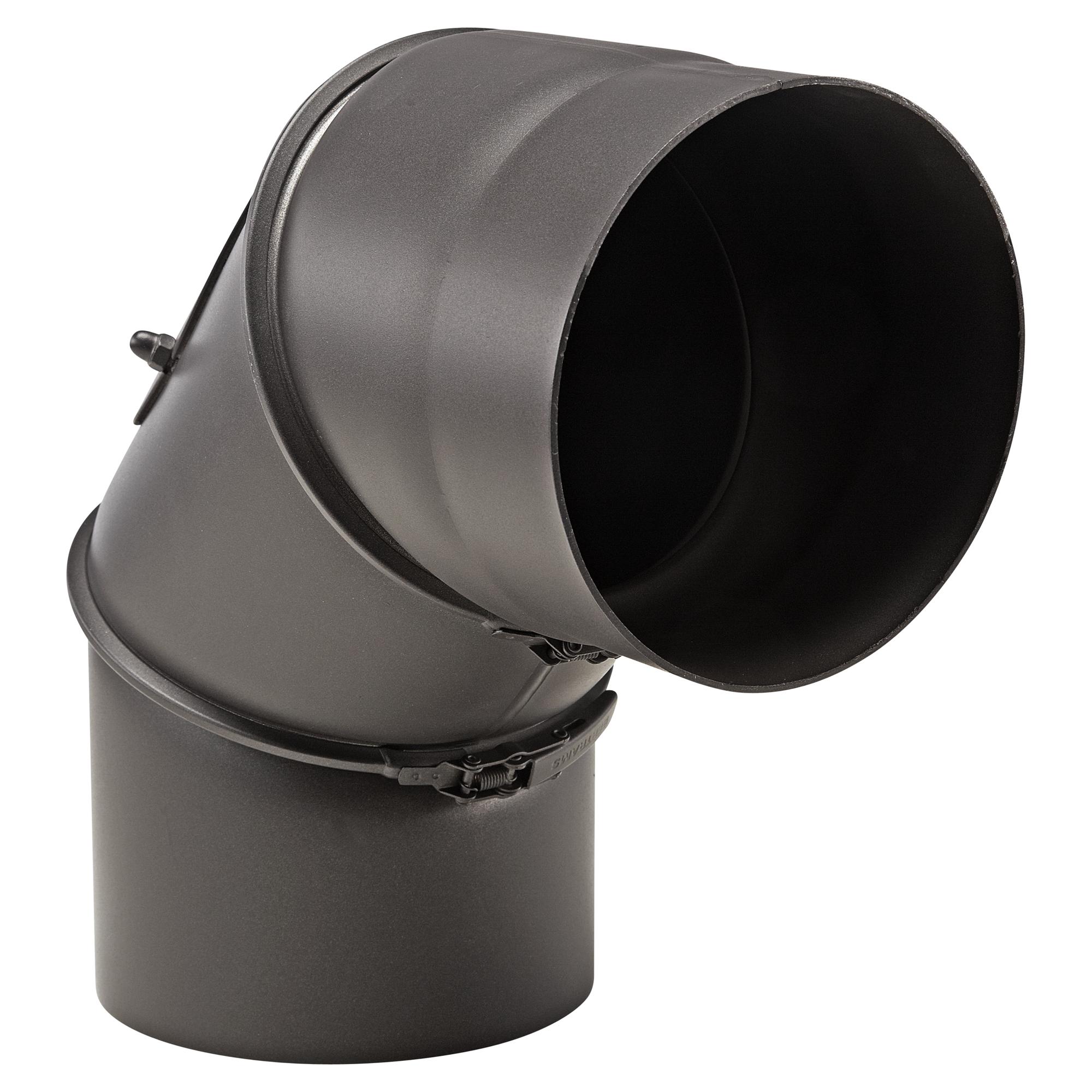 OBI Rauchrohrbogen 90° Ø 150 mm Schwarz