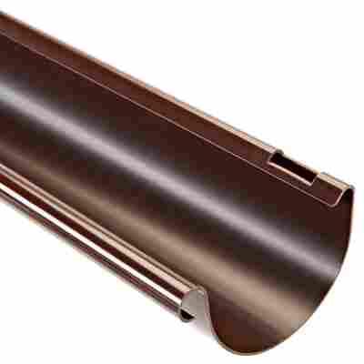 Dachrinne halbrund braun DN 75, 300 cm