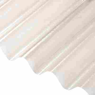 Polyester-Wellbahn 250 cm Meterware transparent