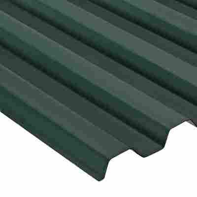 "PVC-Wellplatte ""Trapez 70/18"", moosgrün oder alugrau"
