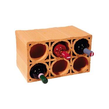Weinlager für 6 Flaschen Ziegel-Optik