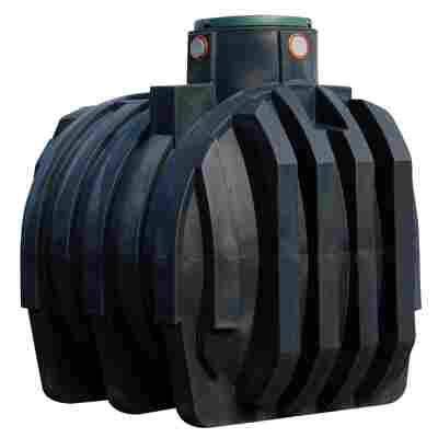 Erdtank Mono schwarz, inkl. Tankabdeckung, 6800 l