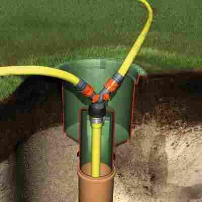 Wasseranschlussbox Extern, grün