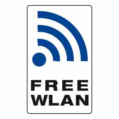 Schild 'Free WLAN' 250 x 150 mm