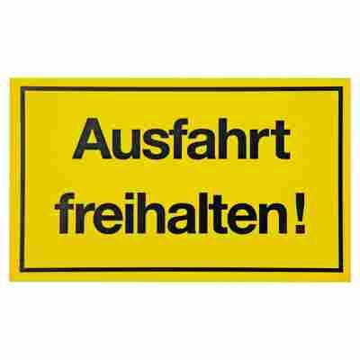 Schild 'Ausfahrt freihalten!' 15 x 25 cm