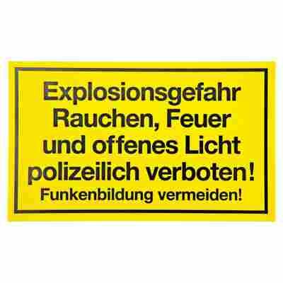 "Schild ""Explosionsgefahr"" 15 x 25 cm"
